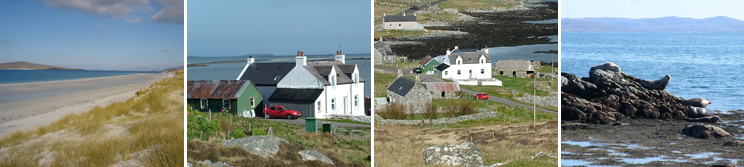 views of Berneray and Seal View B&B